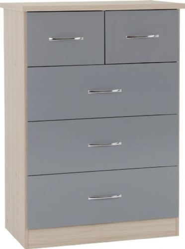 Blanca Grey 5 Chest of Drawers